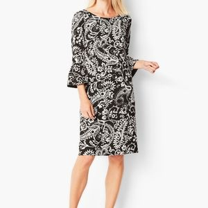 TALBOTS Crepe Floral Paisley Shift Dress Size 14P